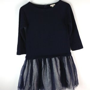 Crewcuts long sleeve dress with sheer lined bottom